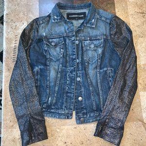 Women's Express Size S 2-tone Jean Jacket